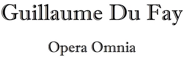 Dufay edition logo
